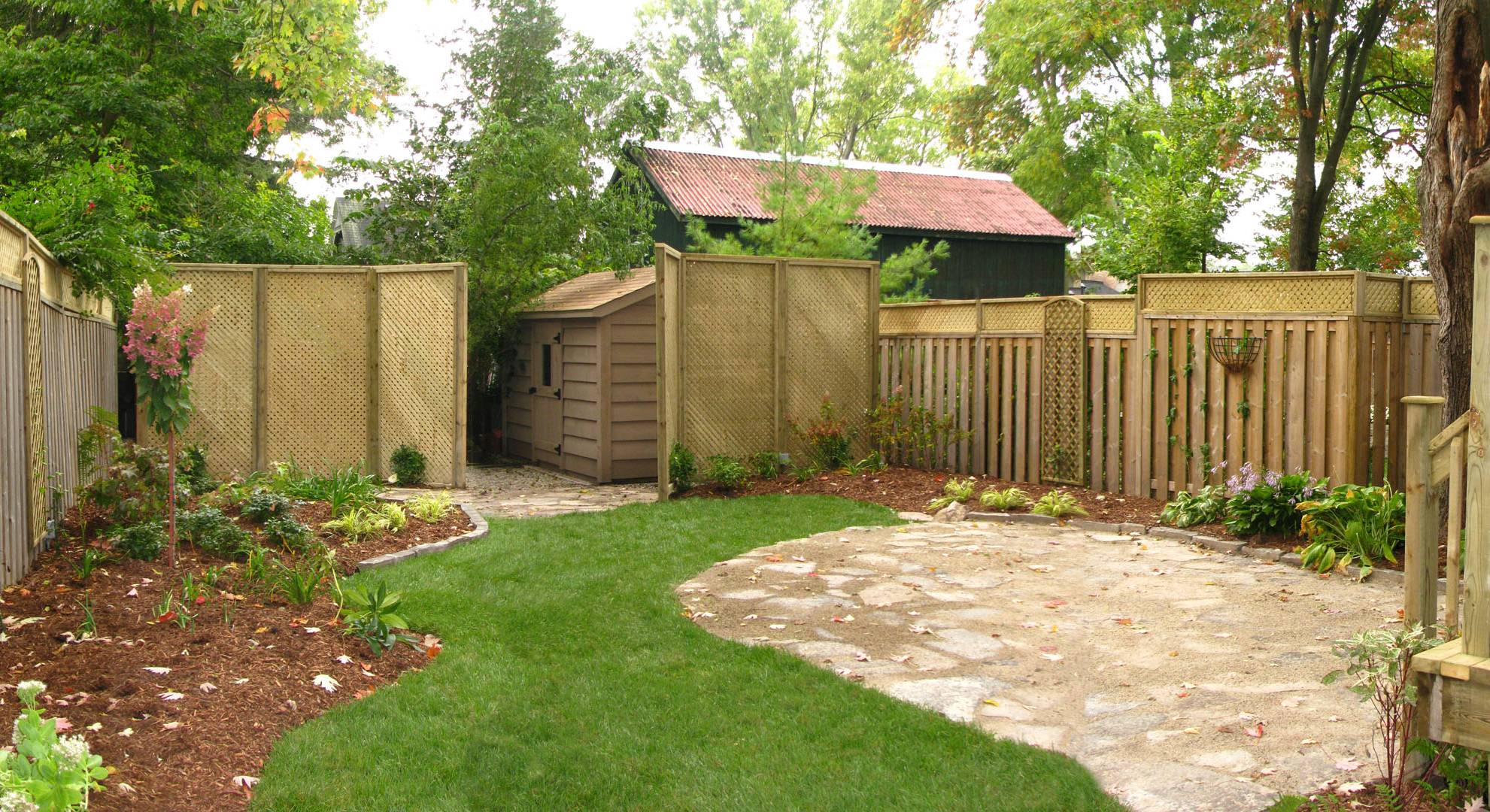 A landscaping, hardscaping and woodwork project in London Ontario. Complete backyard overhaul.
