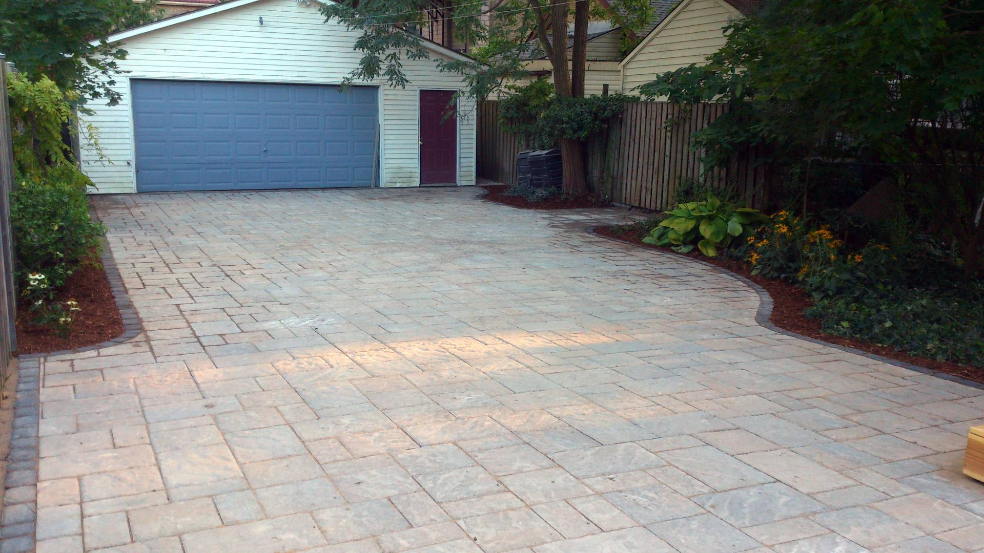Interlock driveway installation: a landscaping / hardscaping project in London Ontario.
