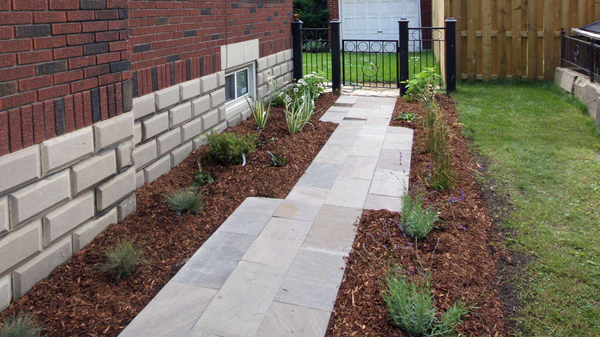 Stone steps and landscaping. Modern landscaping / hardscaping project in London Ontario.