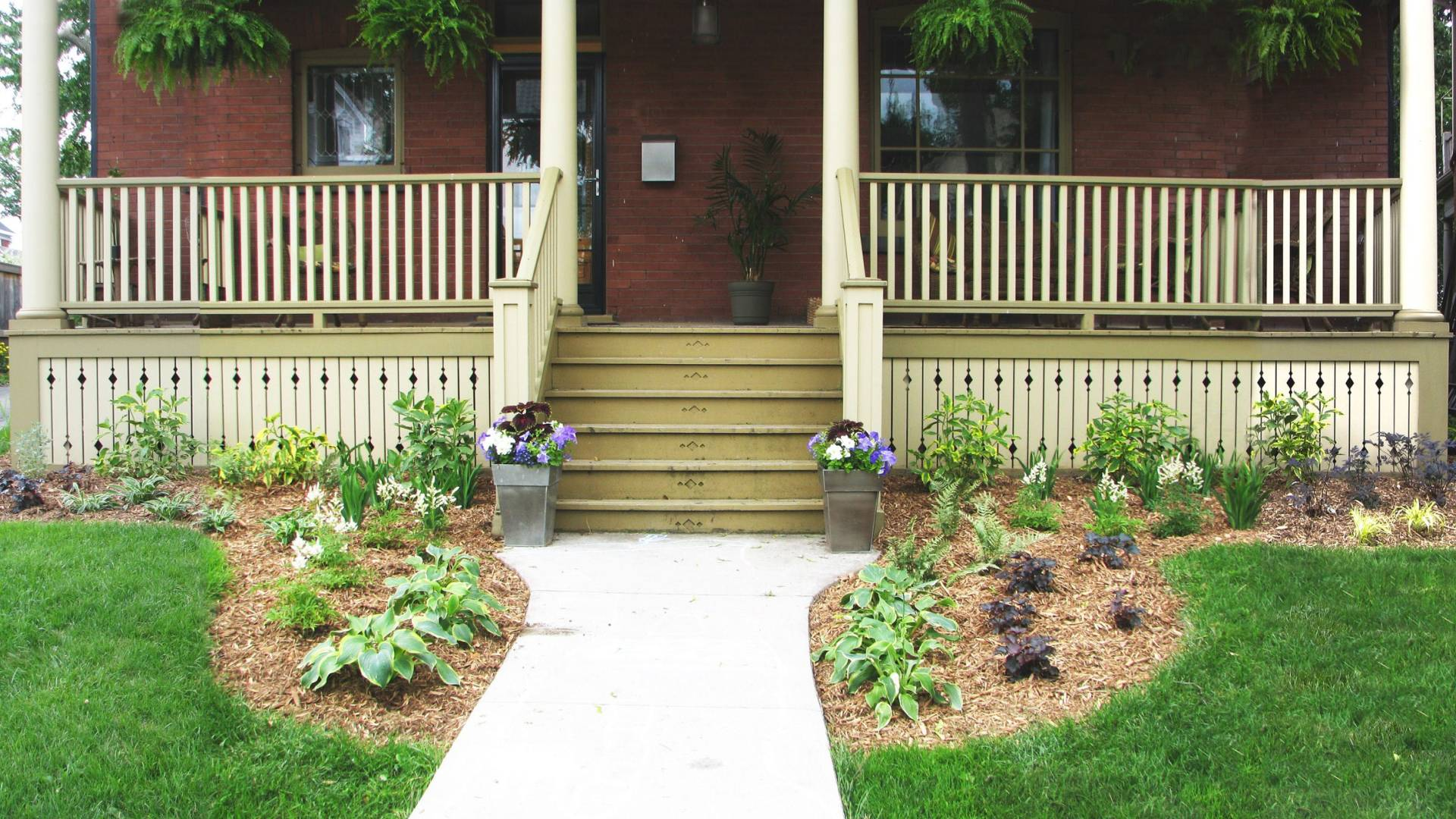 Traditional landscaping project in London Ontario.